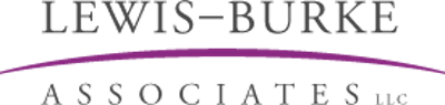 Lewis-Burke Associates logo with purple swoosh