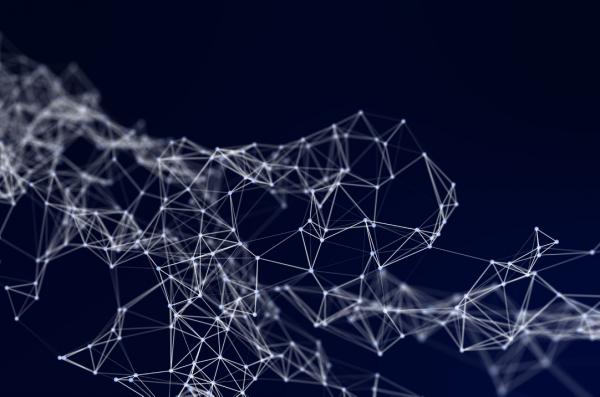 light neural network on dark background