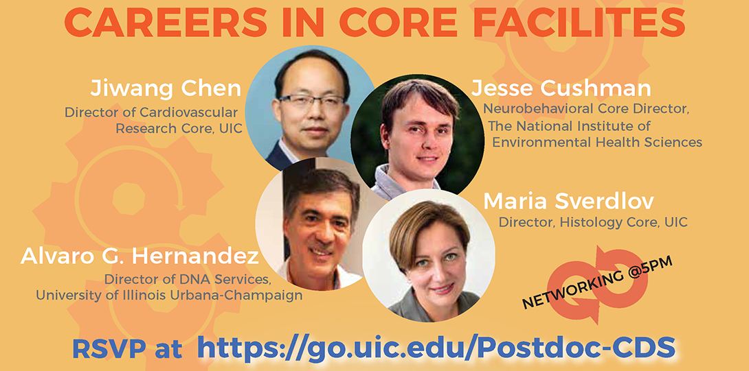Flyer for Careers in Core Facilities Panel