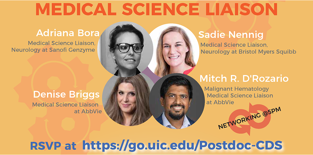 Flyer for Medical Science Liaison Panel
