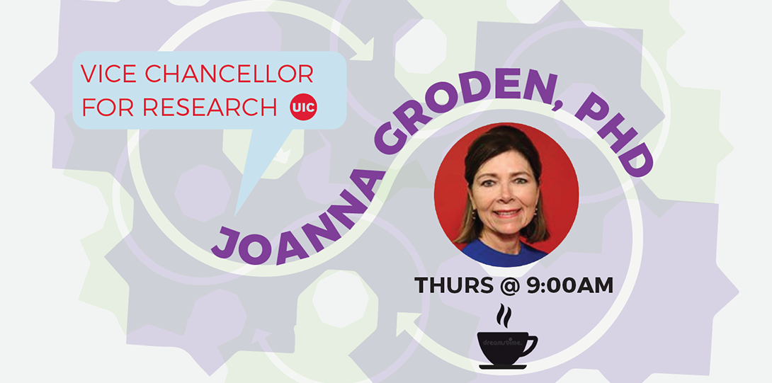 Flyer for Coffee Conversation with Dr. Joanna Groden